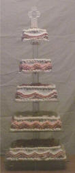 5 tiered wedding cake