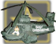 Apache Helicopter. Sculptured 3-D cake for the baby shower of a Ft. Rucker, Alabama Army Pilot.